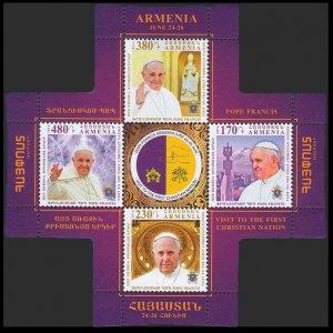 2016 Armenia 970/B77 Pope Francis