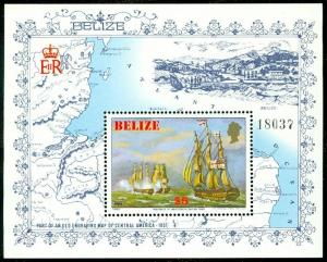 EDW1949SELL : BELIZE 1982 Scott #615 Ships Very Fine, Mint Never Hinged. Cat $60