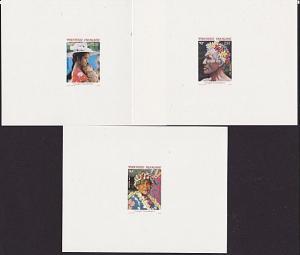 FRENCH POLYNESIA 1987 Faces of Polynesia set of 3 proofs....................4069