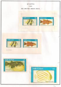 SCOTLAND - STAFFA - 1982 - Fish #1 - Perf, Imperf 2v, Souv, D/L Sheets - MLH