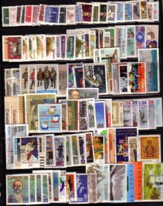 CANADA  100 DIFFERERENT STAMPS USED LOT#15