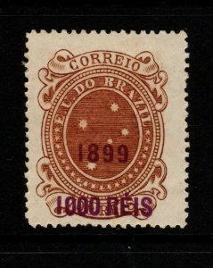 Brazil SC# 156, Mint Hinged, large page remnant - S10145