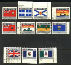 Can #821-25,827-32   used VF 1979 PD