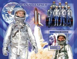 GUINEA BISSAU 2007 SHEET SPACE JOHN GLENN ASTRONAUTS COSMONAUTS