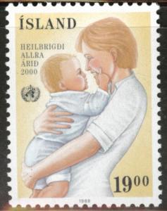 ICELAND Scott 668 MNH** WHO 1988 stamp CV$.80