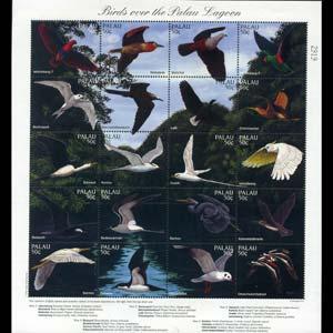 PALAU 1996 - Scott# 402 Sheet-Birds NH