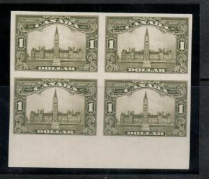 Canada #159a Extra Fine Never Hinged Imperf Block **With Certificate**