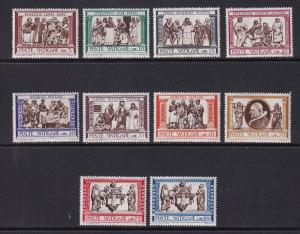 Vatican City   #284-291,E15-E16  MNH  1960  acts of mercy by Robbia incl express