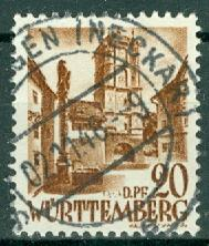 Germany - French Occupation - Wurttemberg - Scott 8N21