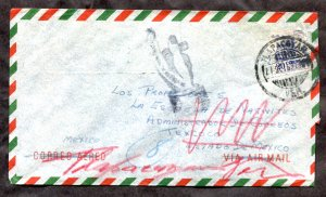 d20 - MEXICO 1953 Cover to Canada. RETURNED