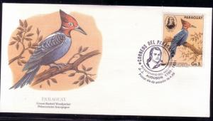 Paraguay FDC SC# 2141f Cream Backed Woodpecker L260