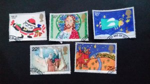 Great Britain 1981 Christmas Stamps Used