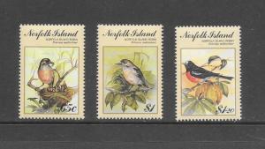 BIRDS - NORFOLK ISLAND #497-99   MNH