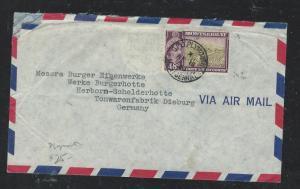 MONTSERRAT  (P806B) QEII 48C 1961 A/M PLYMOUTH TO GERMANY