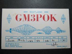 5685 Amateur Radio QSL Card South Queensferry West Lothian Scotland