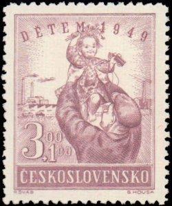 Czechoslovakia #B166-B167, Complete Set(2), 1949, Never Hinged