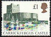 1992-5 GB Great Britain Carrickfergus Castle £1 MNH Sc# 1445 $6.50