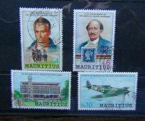 Mauritius 1991 Anniversaries and Events set Fine Used Spitfire