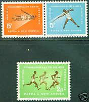 Papua New Guinea Scott 171-173 MH* Sports set