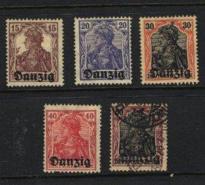 Danzig #3-7   Mint & used 1920 PD
