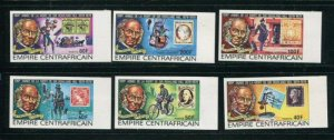 Central African Republic #366-9 C203-4 Imperf MNH