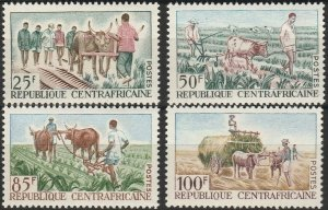 Central African Republic, #41-44  Unused From 1965