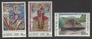 Cyprus #409-411 MNH Set of 3