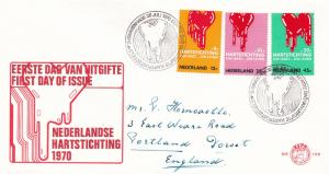 Netherlands 1970 Heart Foundation FDC VGC No.108