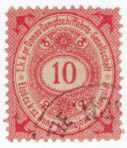 (I.B) Austria Cinderella : Danube Steamship Company 10kr