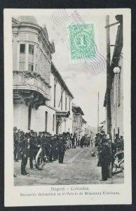 1914 Bogota Colombia Copenhagen Denmark Diplomatic Reception RPPC Postcard Cover