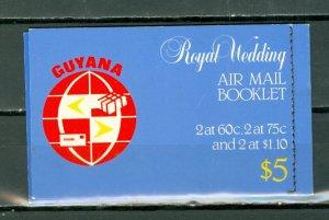 GUYANA ROYAL WEDDING 1981...#331-333 PAIRS in BKLT...$18.00