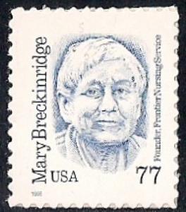 #2942 77 cents Mary Breckenridge, mint OG NH VF