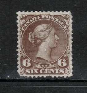 Canada #27v Very Fine Mint With Short Perfs At Bottom **With Certificate**