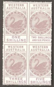 1893 - 1901 WA Western Australia Revenue Swan Stamp Plate Reprint WAPEX '79
