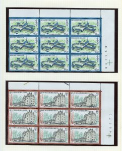 BELGIUM SELECTION B BLOCKS ON  PAGES MINT NEVER HINGED & USED