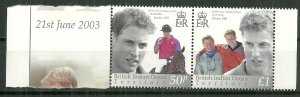 2003 British Indian Ocean Territory 265 Prince William 21st BD Horiz. Pair MNH