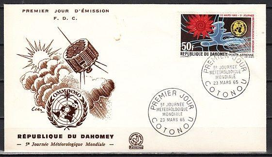 Dahomey, Scott cat. C25. World Meteorological day issue. First day cover