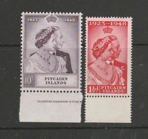 Pitcairn islands 1948 Wedding MM, 10/- Part imprint, SG 11/2