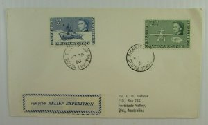 1968 British Antarctic Territory cover Signy Isl to Queensland #1 #5 CDS F-VF