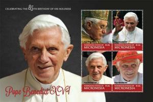 Micronesia - Pope Benedict XVI - 4 Stamp  Sheet - MIC1218