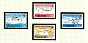 Montserrat 472-75 MNH 1981 Airplanes