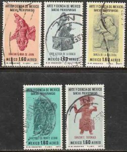 MEXICO C548-C552, Art and Science (Series 7) USED. F-VF. (412)