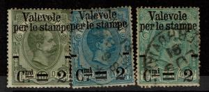 Italy SC# 58, 59 and 61, 58 Mint Hinged, Hinge Remnant, see notes - S4223