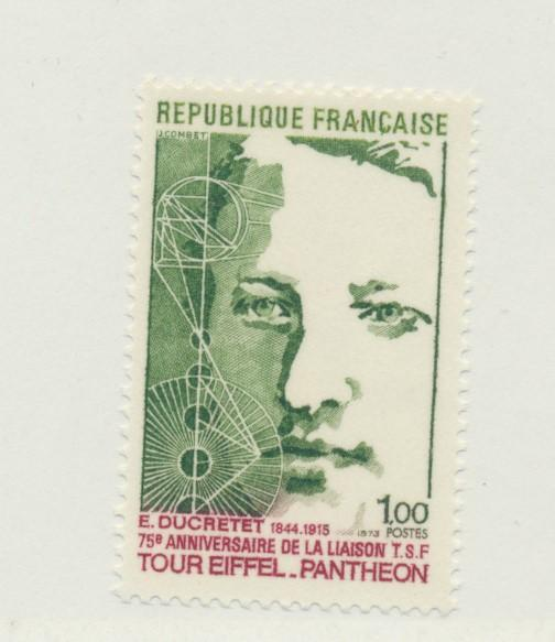 France Scott #1380, Radio Signals from the Eiffel Tower Issue From 1973 - Fre...