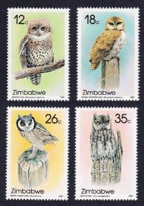 Zimbabwe Owls 4v SG#710-713