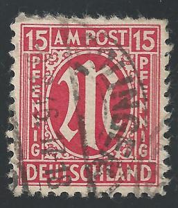 Germany #3N9a 15pf AMG Issue