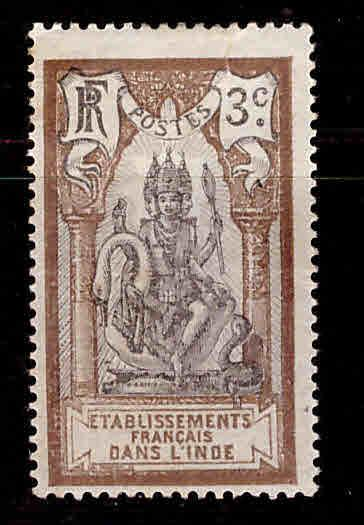 FRENCH INDIA  Scott 28 MH* Brahma stamp