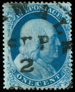 momen: US Stamps #22 Used VF Sept. 2nd c.d.s.