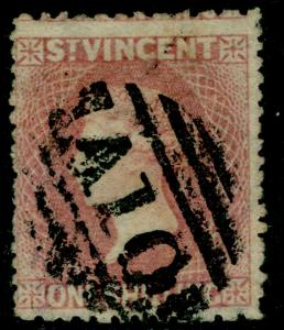 ST. VINCENT SG20, 1s lilac-rose, USED. Cat £350. P.11-12½x15.