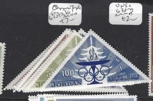 JORDAN  (P2809BB) OLYMPIC, TRIANGLE STAMPS SG 610-7   MNH